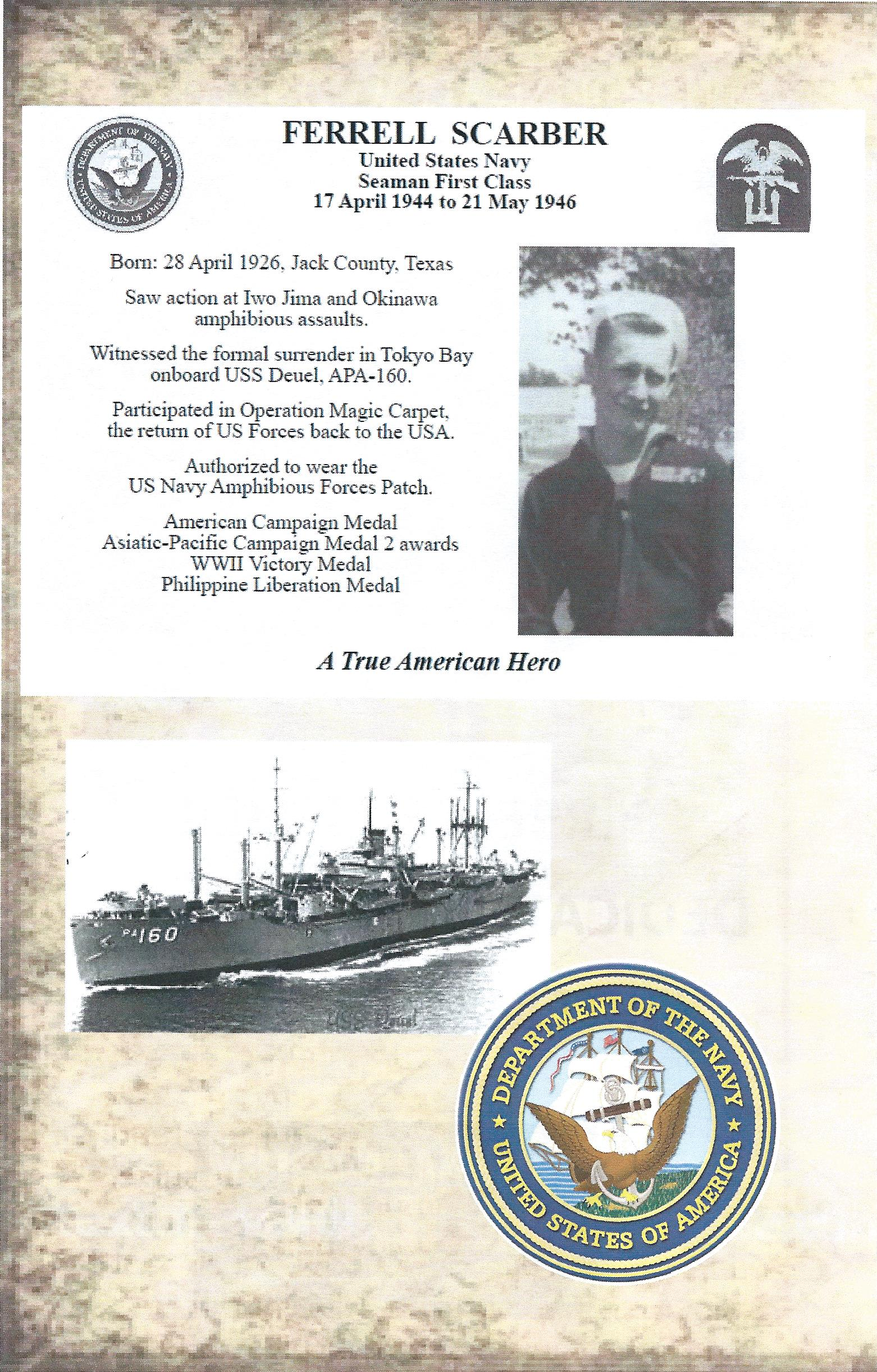 Grundy Ferrell Scarber Military History